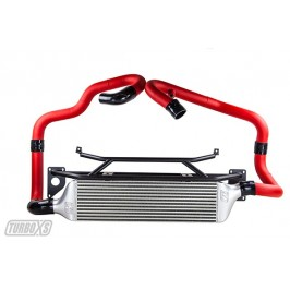 Front Mount Intercooler 2015+ Subaru STi Wrinkle Red