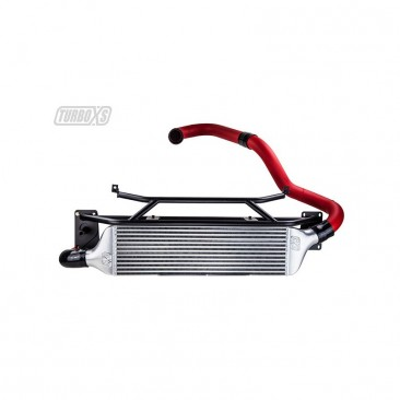 TurboXS 2015+ WRX Front Mount Wrinkle Red Intercooler Kit